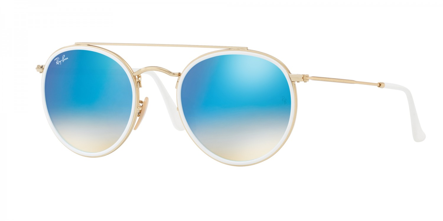 403ab4d2ee2b2d Ray-Ban ® Round Double Bridge RB3647N-001 4O   Aveclunettesoleil.fr