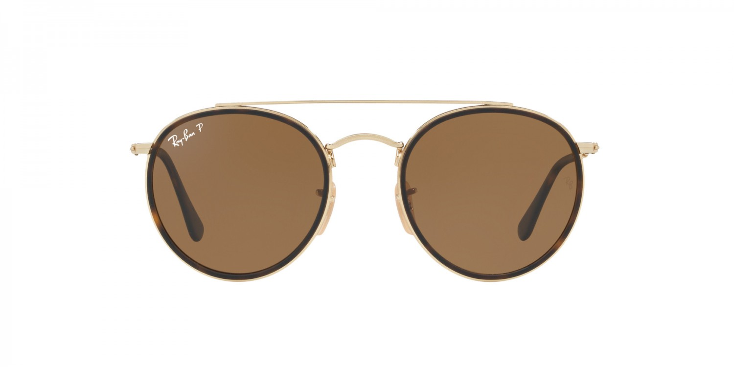 eda0b6f6753d9f Ray-Ban ® Round Double Bridge RB3647N-001 57 Polarisées ...