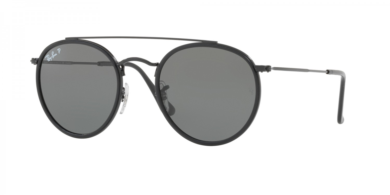 364ee8d9c8b8a0 Ray-Ban ® Round Double Bridge RB3647N-002 58 Polarisées ...