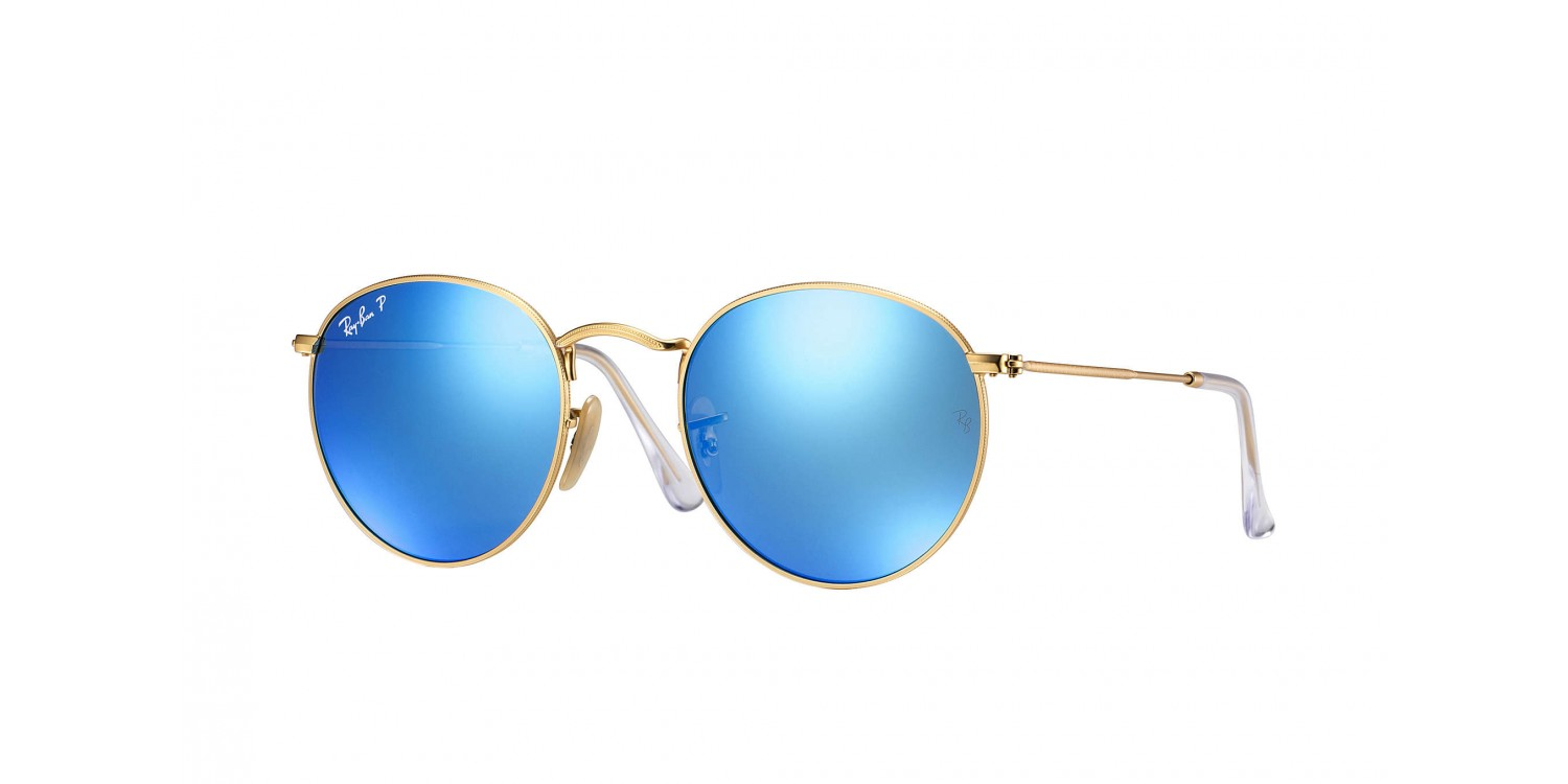 Ray-Ban ® Round Metal RB3447-112 4L Polarisées   Aveclunettesoleil.fr ee65f09374fa